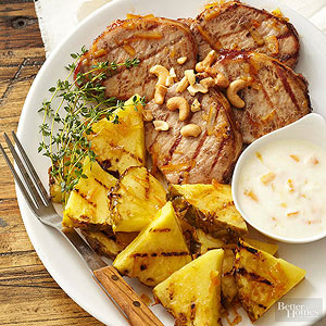 Grilled Pork and Pineapple!