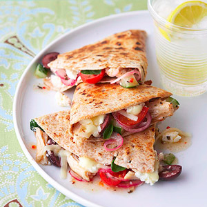 Greek Style Chicken Quesadillas!
