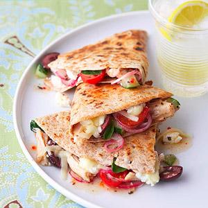Greek Style Chicken Quesadillas!