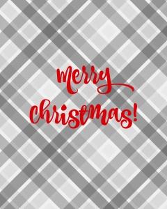 Plaid Merry Christmas